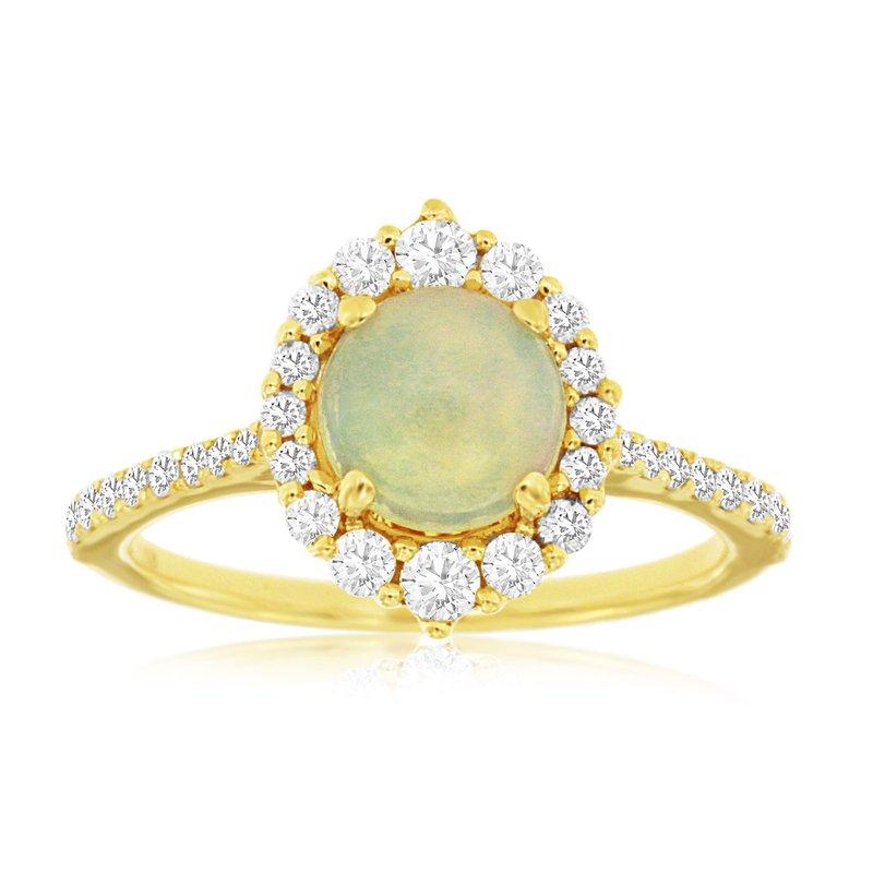 Murphy Pitard Signature Collection Opal & Diamond Halo Fashion Ring