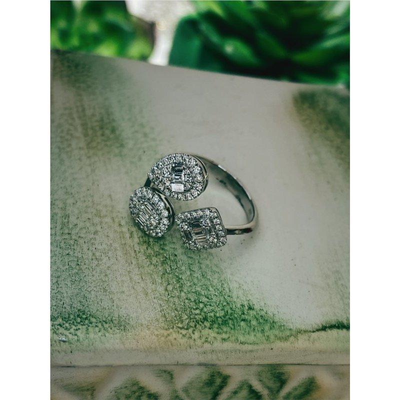 Murphy Pitard Signature Collection Diamond Geometric Halo Fashion Ring