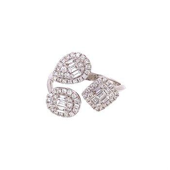 Diamond Geometric Halo Fashion Ring