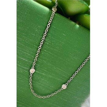 Diamond By The Yard Station Necklace - 2.38 Carats
