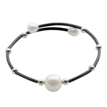 Freshwater Pearl Flexible Bangle Bracelet