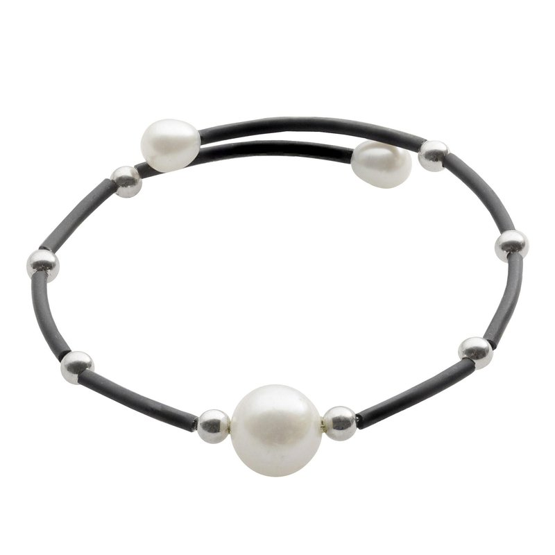 Murphy Pitard Signature Collection Freshwater Pearl Flexible Bangle Bracelet
