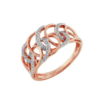 Diamond Fashion Open Swirl Ring