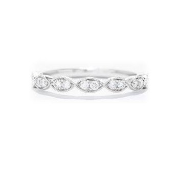 Diamond 1/4 Carats Half Anniversary Band