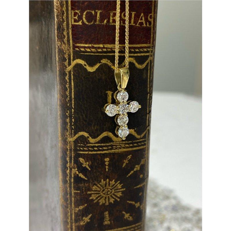 Murphy Pitard Signature Collection Diamond 3/4 Carats Small Diamond Cross Pendant