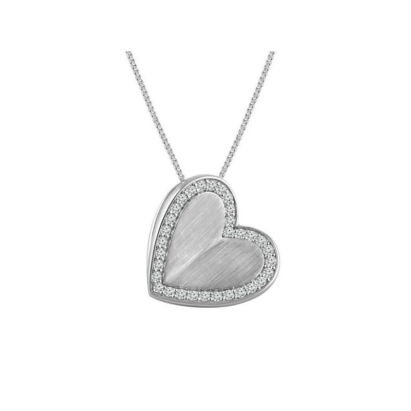 Murphy Pitard Signature Collection Radiant Universe 1/10 Carats Diamond Heat I Love You Pendant Necklace