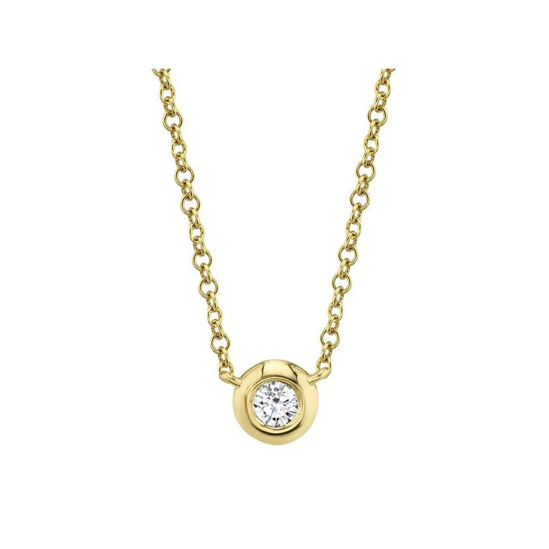 Shy Creation Kate Collection Diamond .05 Carats Bezel Necklace