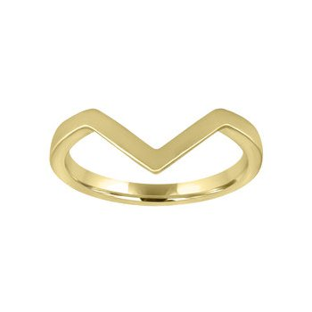 Chevron Gold Stackable Band