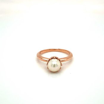 Freshwater Pearl 6-6.5 Millimeter Crown Ring