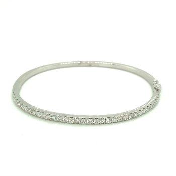 Diamond 1 1/4 Carats Bangle Bracelet