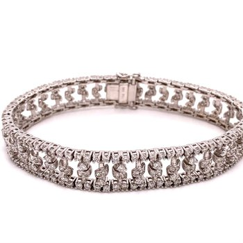 Diamond Fancy Multi-Row Diamond 6 Carats Tennis Bracelet