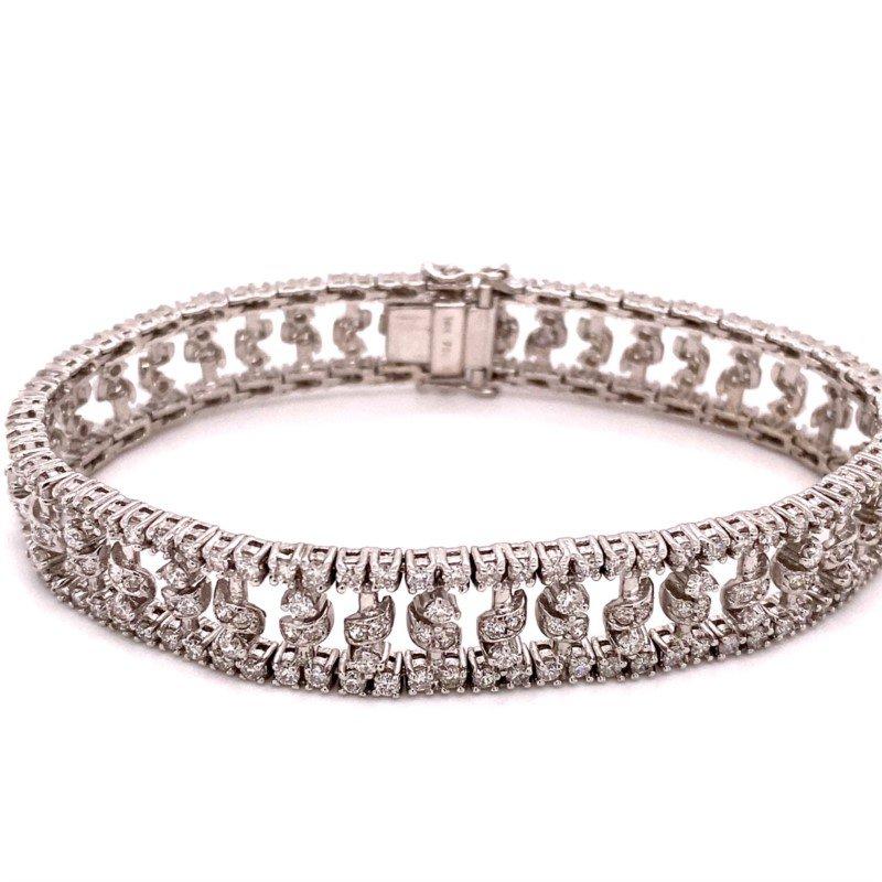 Murphy Pitard Signature Collection Diamond Fancy Multi-Row Diamond 6 Carats Tennis Bracelet