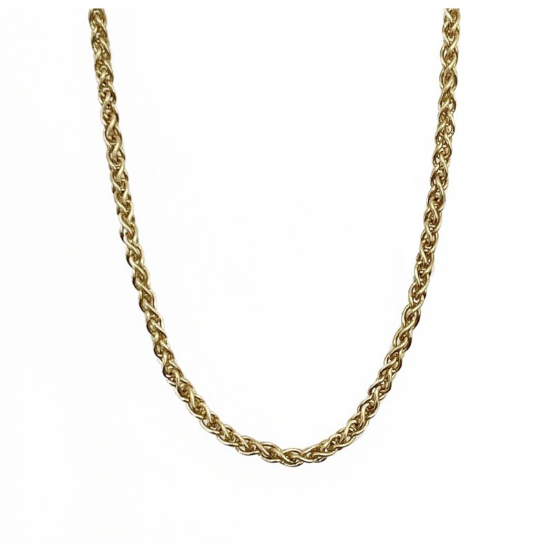 Murphy Pitard Signature Collection Yellow Gold Wheat Chain