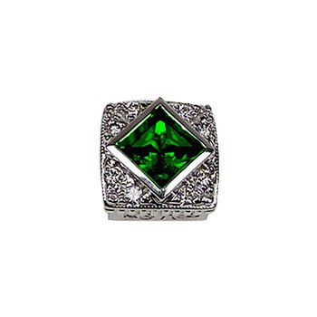 Caerleon Created Emerald Halo Bezel