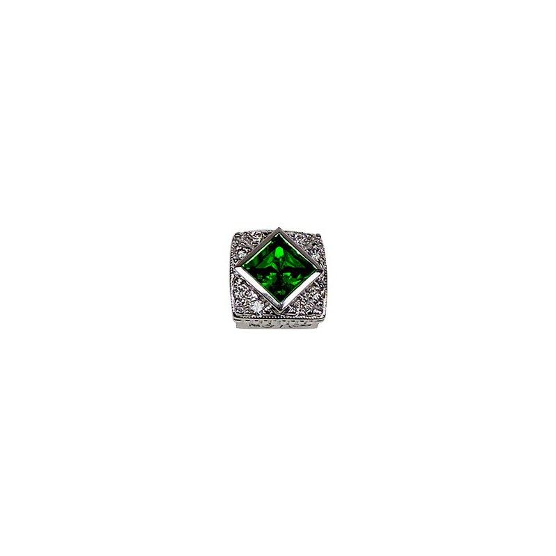 Goldman-Kolber Caerleon Created Emerald Halo Bezel