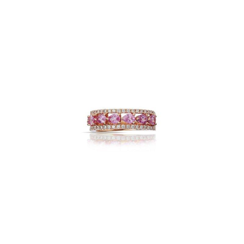 Murphy Pitard Signature Collection Pink Sapphiret & Diamond Band