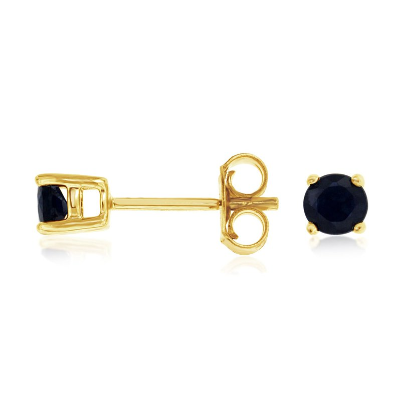 Murphy Pitard Signature Collection Blue Sapphire Stud Earrings
