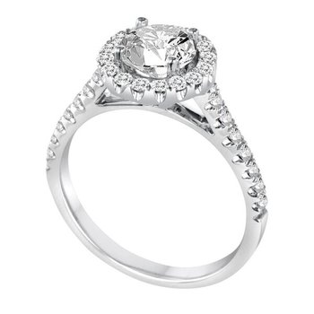 Diamond Round Halo Engagement Ring