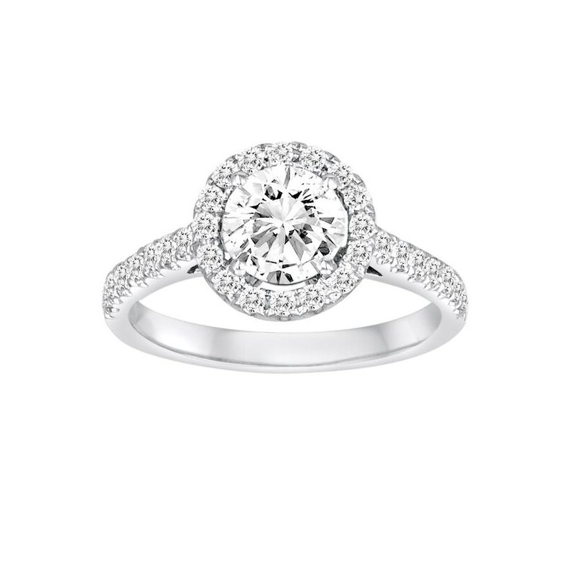 Diadori (Cheri Dori) Diamond Round Halo Engagement Ring