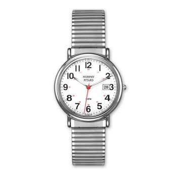 Casual Stretch Band Watch with Luminous Dial and Hands