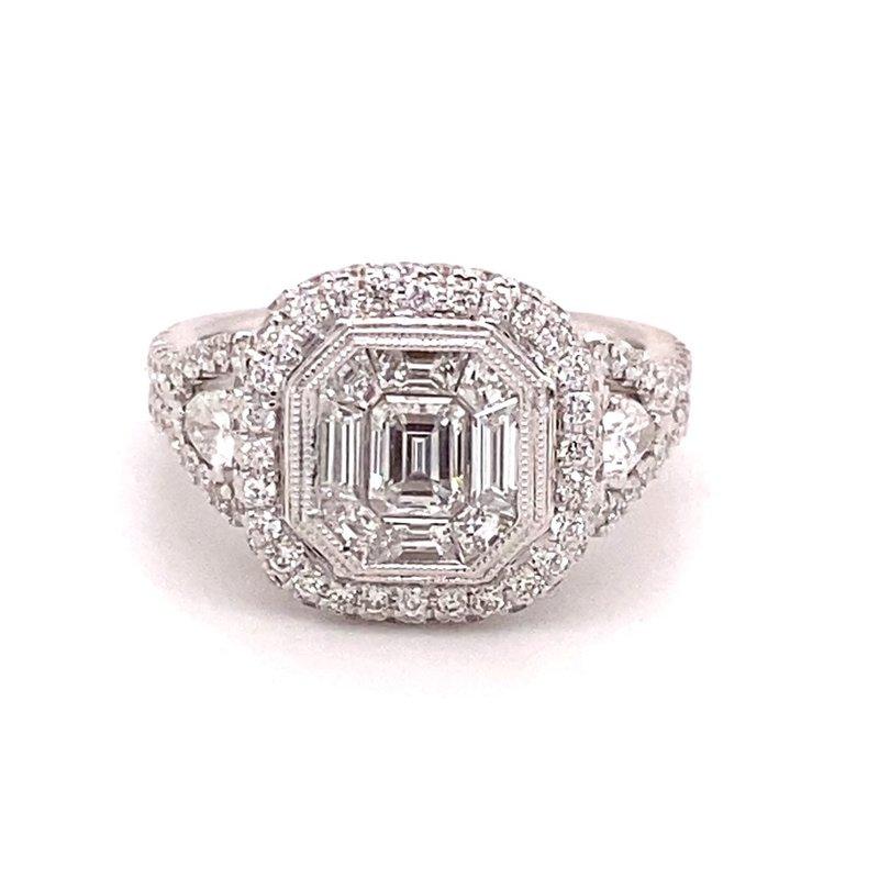 Murphy Pitard Signature Collection Mosaic Diamond Halo Fashion Ring