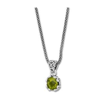 Peridot Drop Pendant Necklace