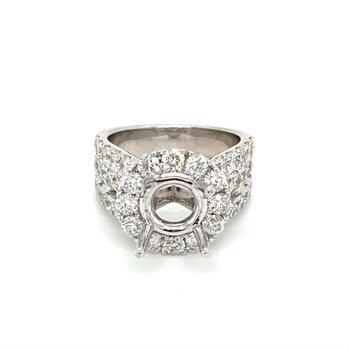 Diamond Halo 3 Carat Engagement Ring