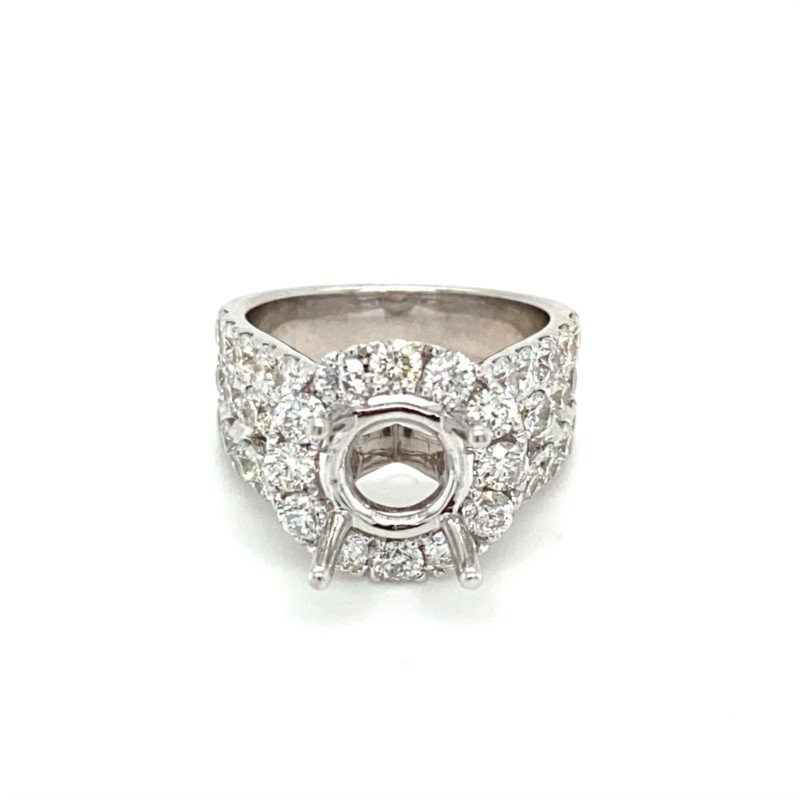 Murphy Pitard Signature Collection Diamond Halo 3 Carat Engagement Ring
