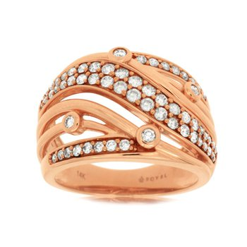 Diamond Fashion Domed Band
