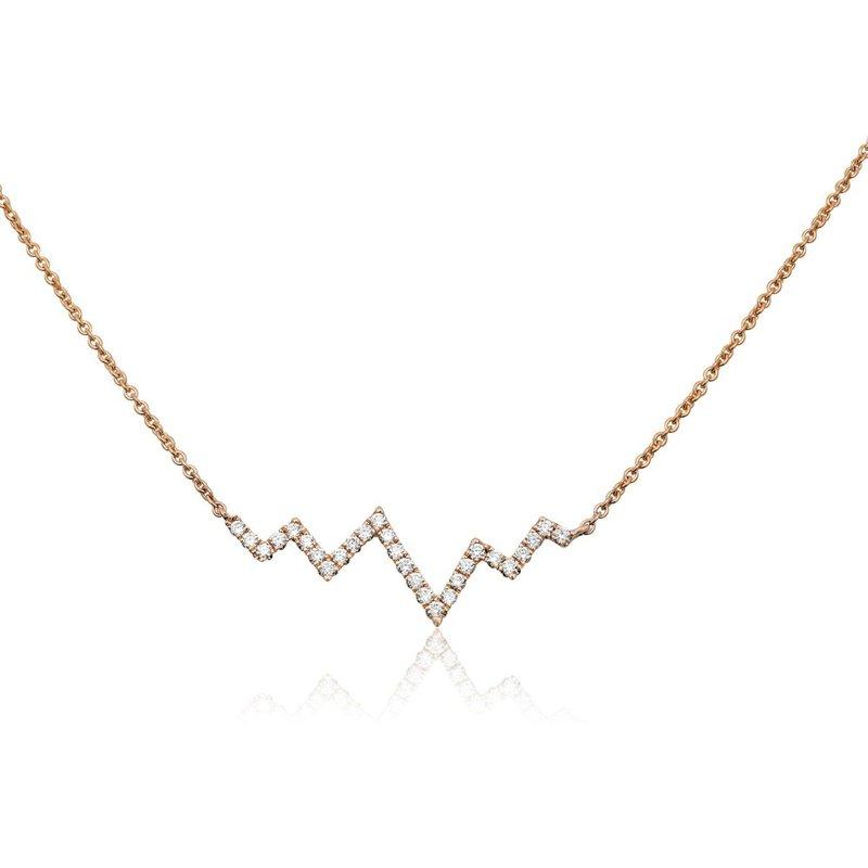 Murphy Pitard Signature Collection Diamond Heartbeat Necklace