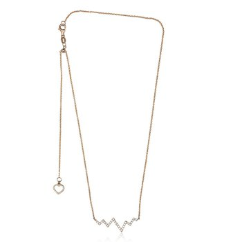 Diamond Heartbeat Necklace