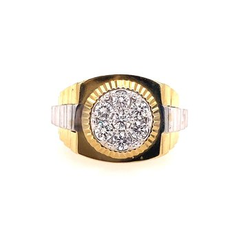 Diamond Two Tone Rolex Style Ring