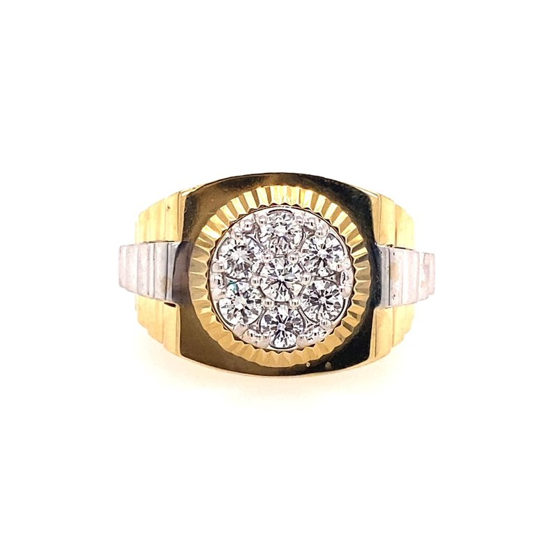Murphy Pitard Signature Collection Diamond Two Tone Rolex Style Ring