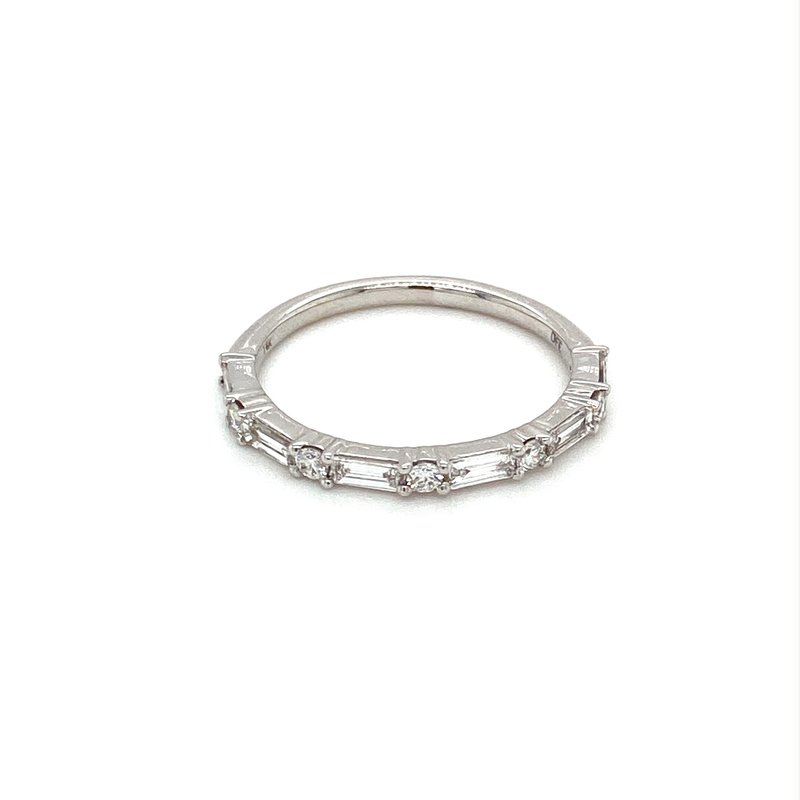 Murphy Pitard Signature Collection Round & Baguette Diamond Anniversary Stackable Band