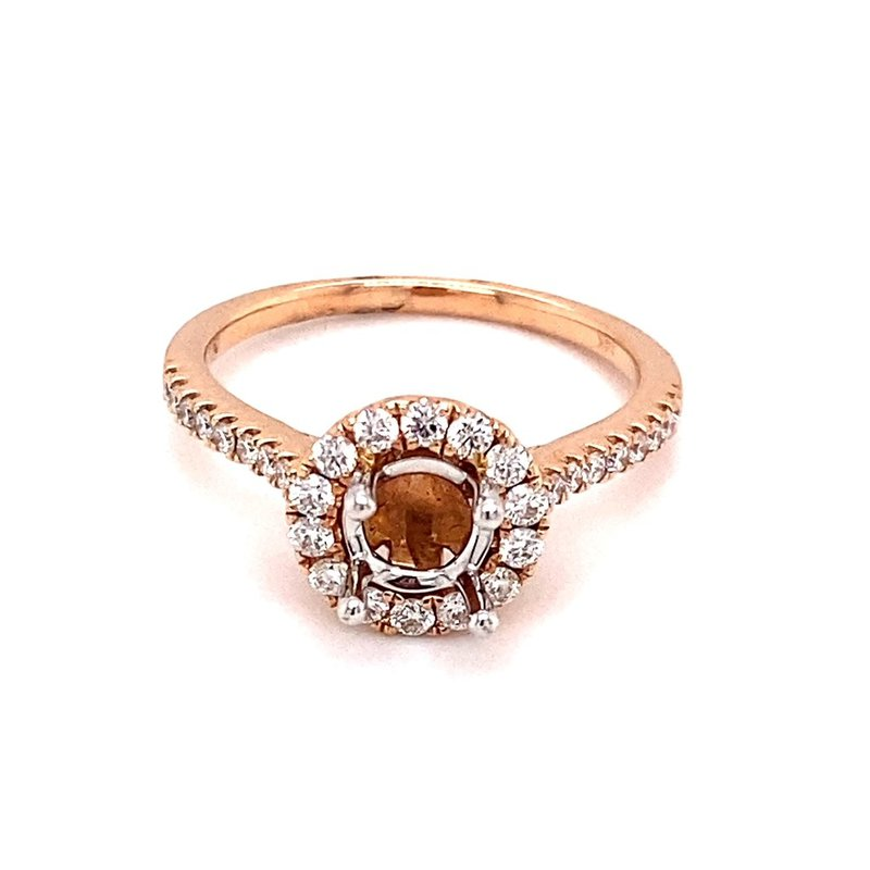Murphy Pitard Signature Collection Diamond Round Halo Engagement Ring