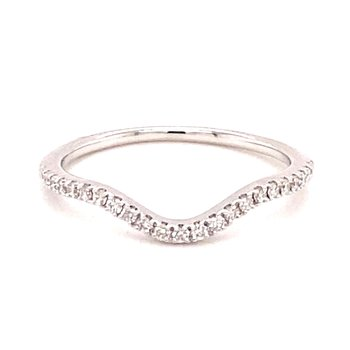 Diamond Contoured Anniversary Band
