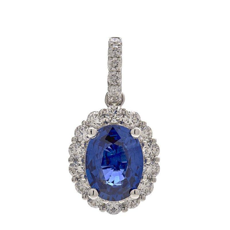 Murphy Pitard Signature Collection Oval Blue Sapphire Pendant