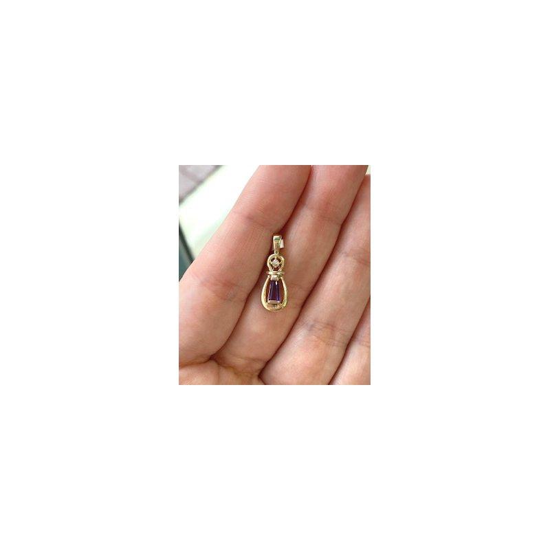 Murphy Pitard Estate Collection Diamond Accented Amethyst Pendant