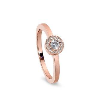 Simulated Diamond Micropavé Ring