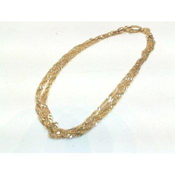 Multi-Strand Twisted Curb Bracelet