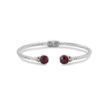 Ruby Twisted Bangle Bracelet