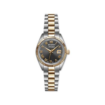 Murphy Pitard 30 Millimeter Dress Watch with Grey Mother of Pearl Dial