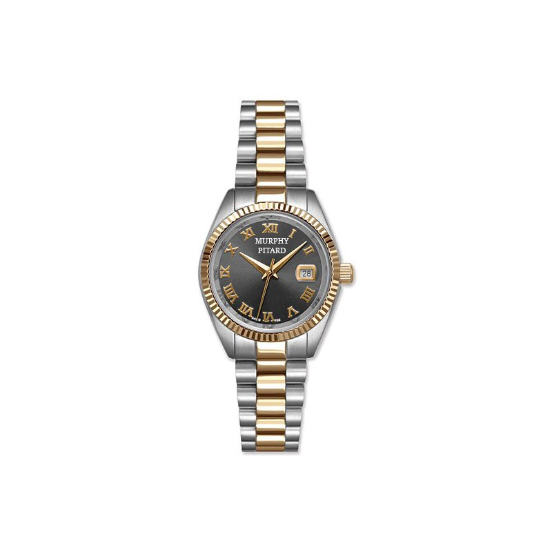 Murphy Pitard Signature Collection Murphy Pitard 30 Millimeter Dress Watch with Grey Mother of Pearl Dial