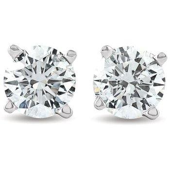 Traditional Set Diamond 1/3 Carats Stud Earrings