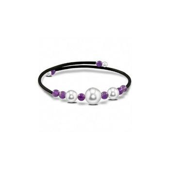 Freshwater Pearl & Amethyst Bangle Bracelet