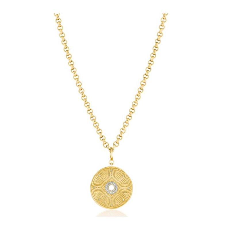 ela rae new york city Flower Medallion on Rolo Chain