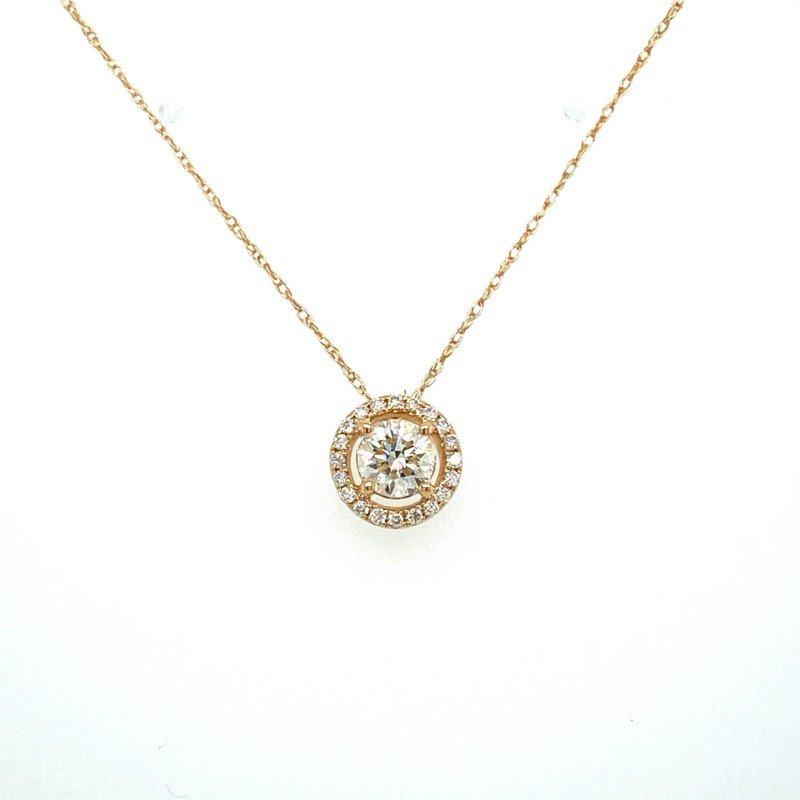 Murphy Pitard Signature Collection Diamond Halo Pendant Necklace