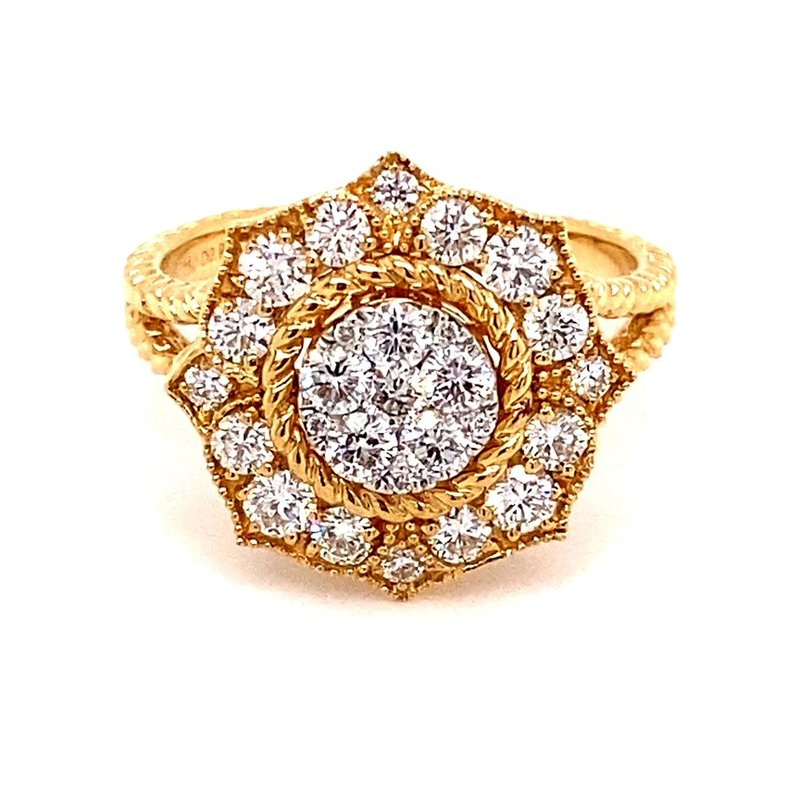 Murphy Pitard Signature Collection Rope Accented Diamond Cluster Ring