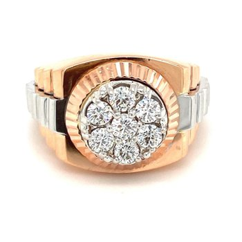 Diamond Rolex Style Fashion Ring