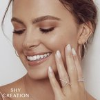 Shy Creation Diamond .08 Carats Stackable Band